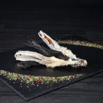 Kaninchenohren mit Fell, getrocknet – 100g