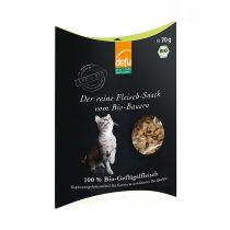 Reiner Fleisch-Snack Bio-Geflügel von Defu (Katzen) – 70g