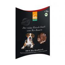 Reiner Fleisch-Snack Bio-Rind von Defu (Hunde) – 70g