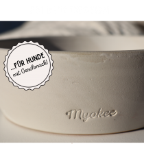 EM-Keramik Futternapf – cremeweiß-matt von MYOKEE