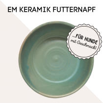 EM-Keramik Futternapf – smaragdgrün von MYOKEE