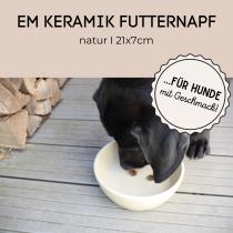 EM-Keramik Futternapf – natur von MYOKEE